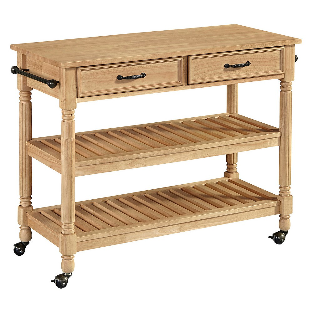 Savannah Natural Kitchen Cart - Maple - Home Styles