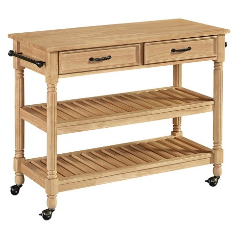 Savannah Natural Kitchen Cart - Maple - Home Styles - image 1 of 2