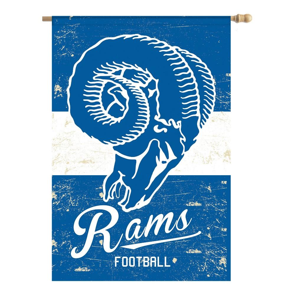 Los Angeles Rams Vintage Linen Garden Flag
