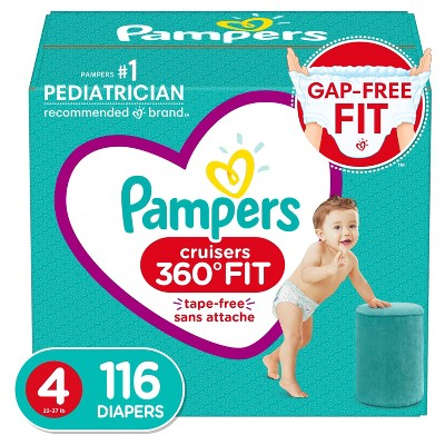 Pampers Cruisers 360 Disposable Diapers Enormous Pack - Size 4 (116ct)