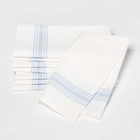 8 Pk Bellflower Stripe Bistro Napkins Blue - Threshold™ - image 1 of 1