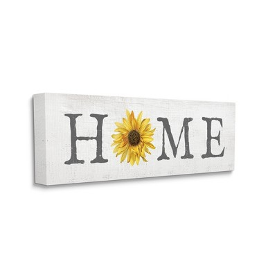 Stupell Industries Rustic Home Text Yellow Sunflower Accent
