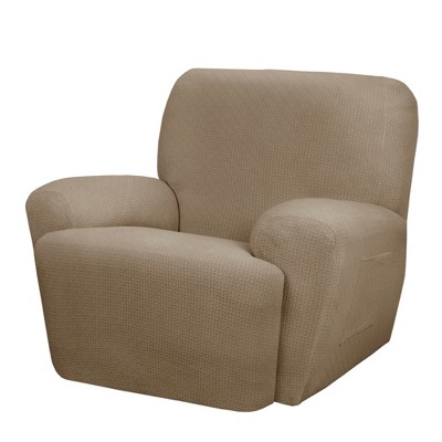 4pc Torie Recliner Slipcover Tan - Maytex