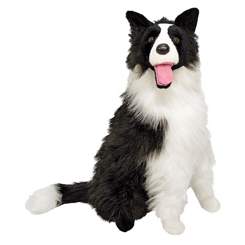 Melissa Doug Giant Border Collie Lifelike Stuffed Animal Dog