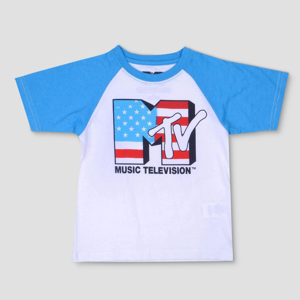 Image of petiteToddler Boys' MTV Short Sleeve T-Shirt - White 5T, Boy's, Beige