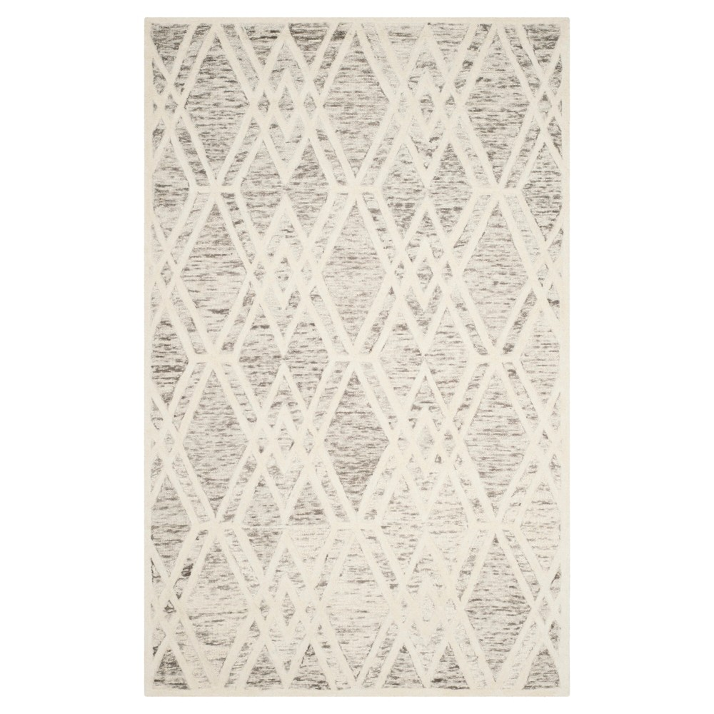 Light Brown/Ivory Abstract Tufted Area Rug - (5'x8') - Safavieh