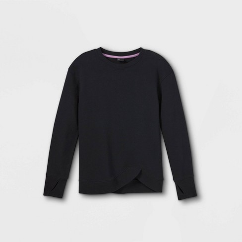 Girls' Fleece Pullover Sweatshirt - All in Motion™ - image 1 of 2