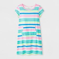 Girls' Adaptive Knit Stripe Dress - Cat & Jack™ Rainbow