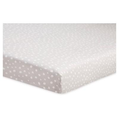 Babyletto Mini Fitted Crib Sheet - Tuxedo Gray Dots