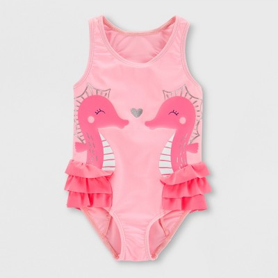Baby Girls' Seahorse One Piece Swimsuit - Just One You® made by carter's Pink 3M