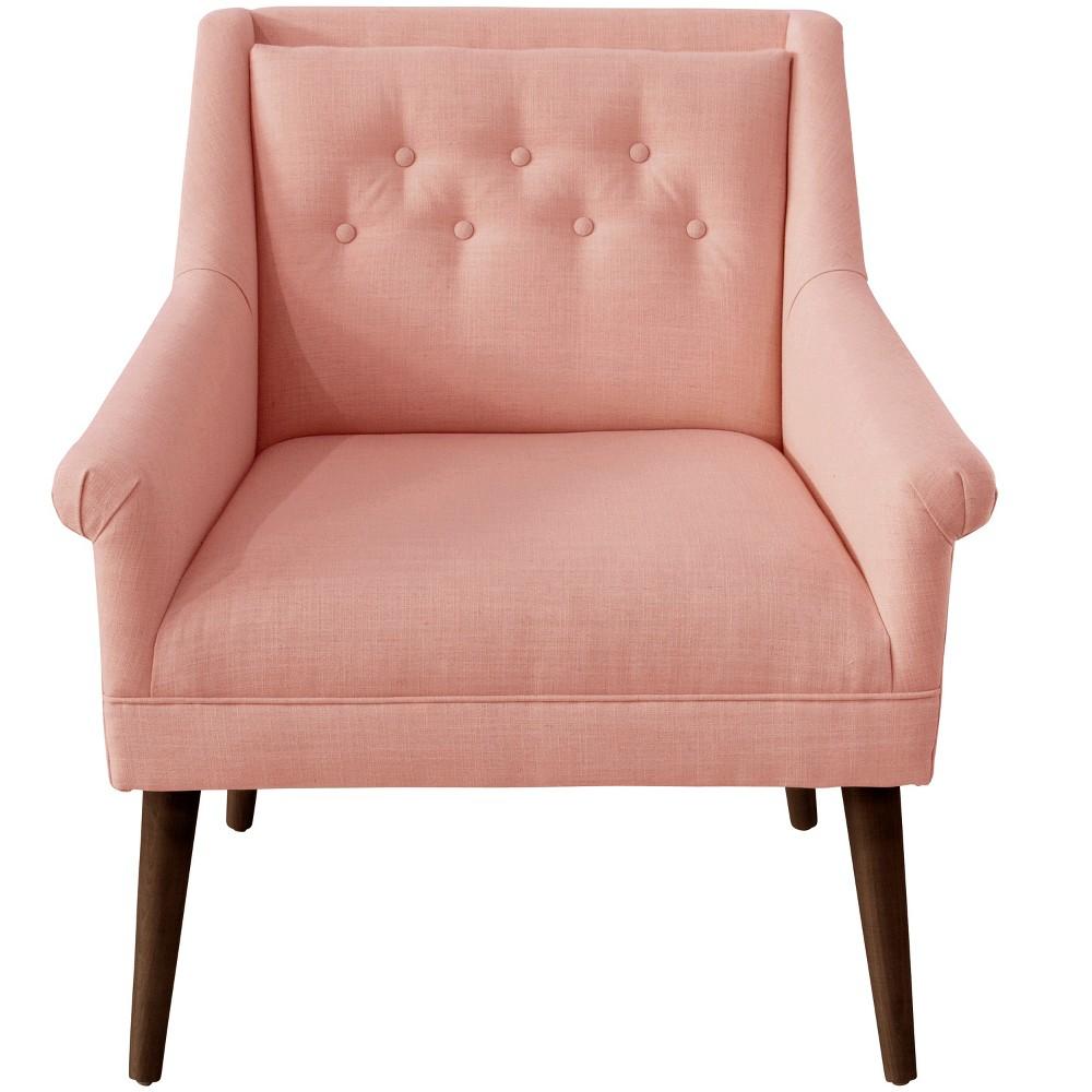 Hadley Button Tufted Chair Petal Linen - Cloth & Co.
