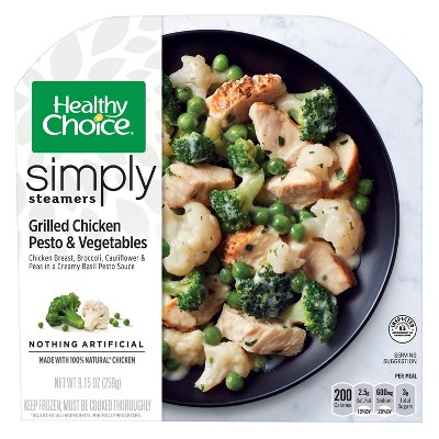 Healthy Choice Simply Steamers Grilled Chicken Pesto and Vegetables - 9.15oz
