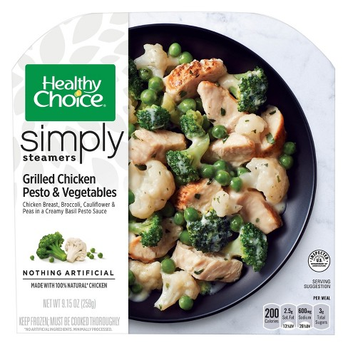Healthy Choice Simply Steamers Grilled Chicken Pesto and Vegetables - 9.15oz - image 1 of 1