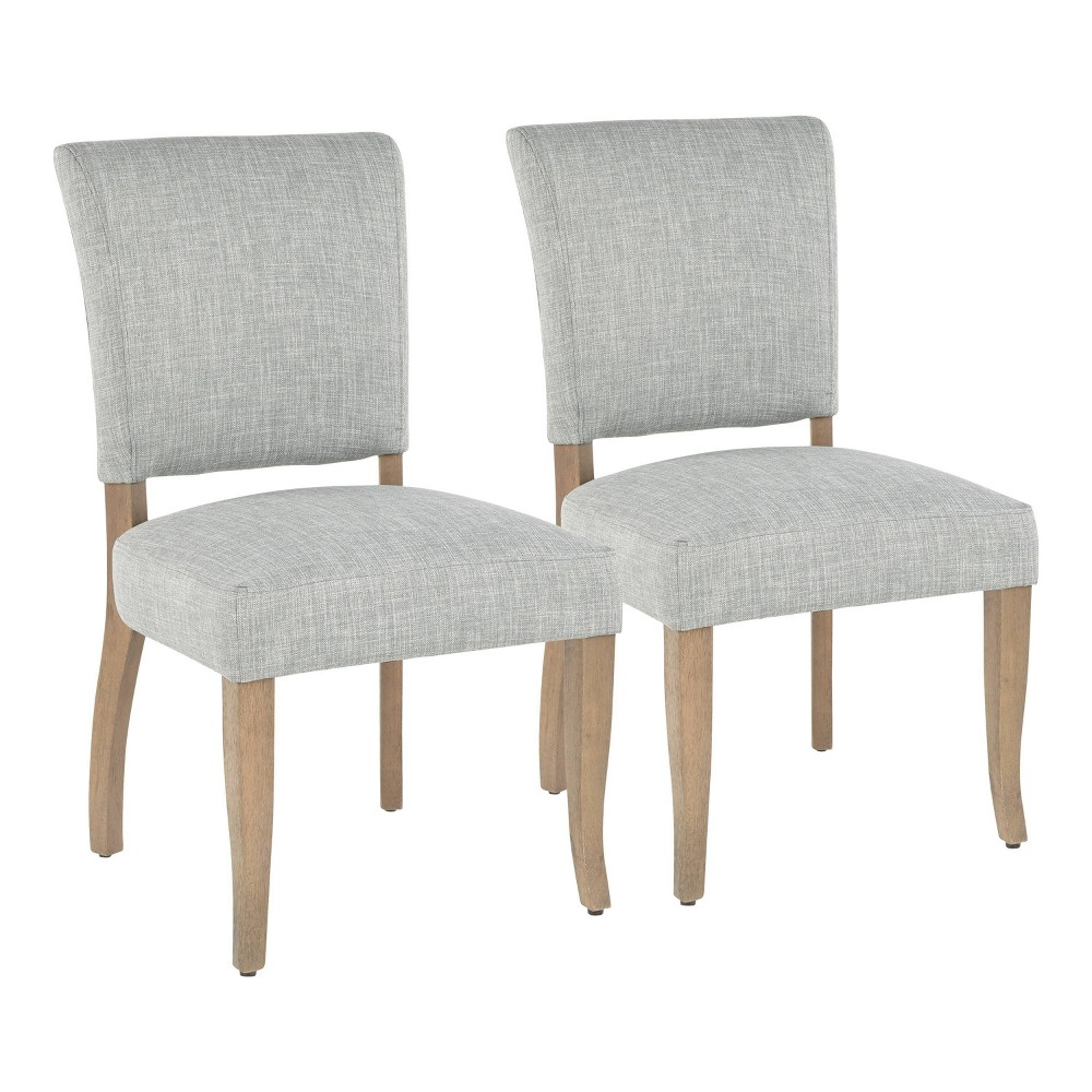 Set of 2 Rita Contemporary Dining Chair Ash Green/Gray - LumiSource, Grey Green