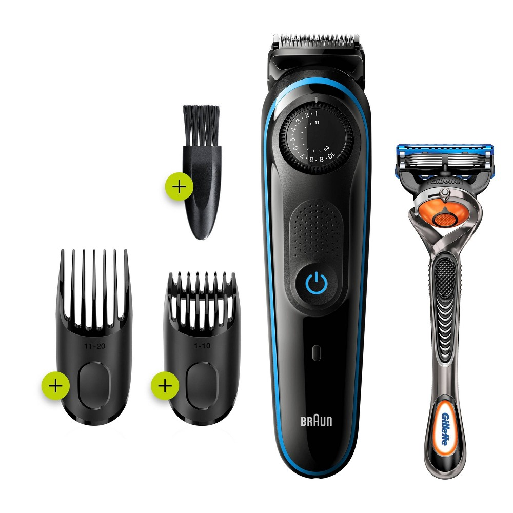 Image of Braun BT3240 Men's Rechargeable 39-Setting Electric Beard & Hair Trimmer