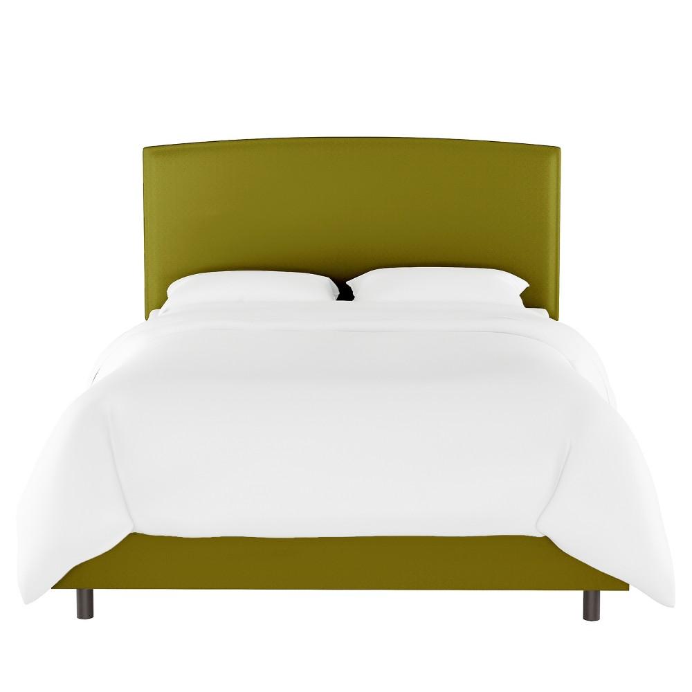 Queen Upholstered Bed Green Velvet - Opalhouse