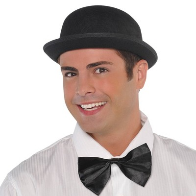 Adult Derby Hat Black Halloween Costume Headwear