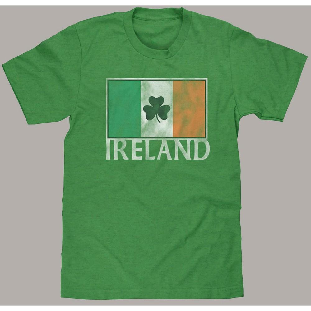 Men's Ireland Flag Short Sleeve Graphic T-Shirt Green Heather L