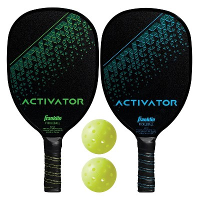 Franklin Sports 2 Player Wood Activator Paddle with Ball Set Polly Bag