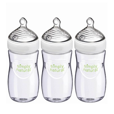 NUK Simply Natural Baby Bottle - 9oz/3pk