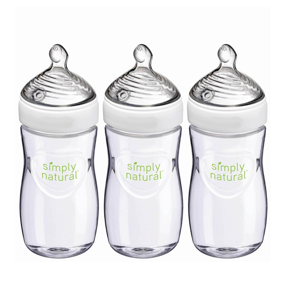 Image of NUK Simply Natural Baby Bottle - 9oz/3pk