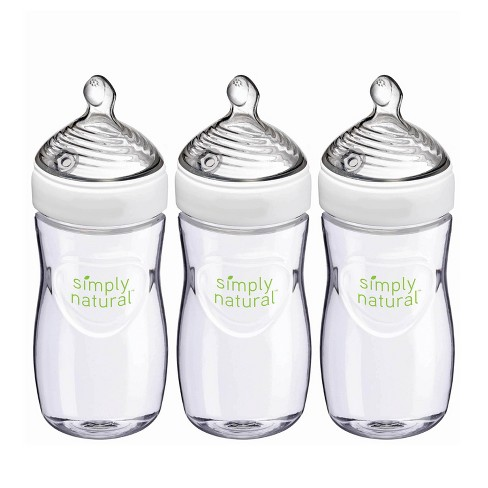 NUK Simply Natural Baby Bottle - 3pk - image 1 of 4