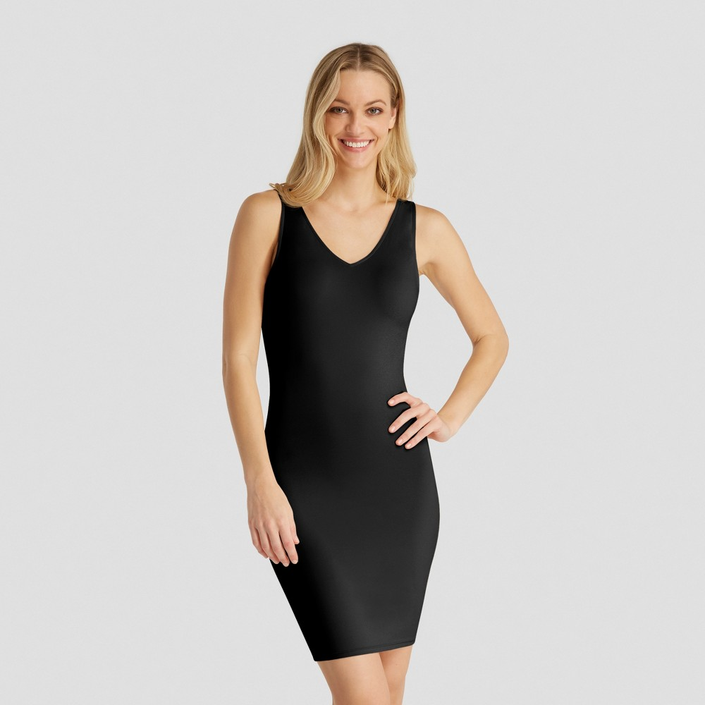 Image of Assets by Spanx Women's Shaping Tank Slip - Very Black L, Size: Large