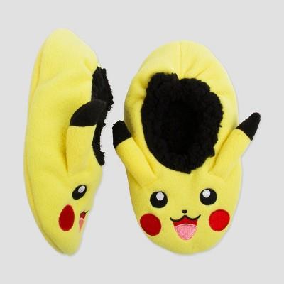 5991711225 Boys  Pokemon Pikachu Slipper Socks - Yellow