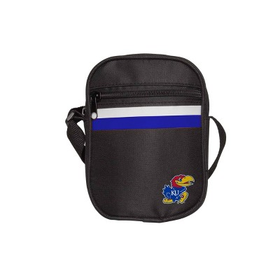 NCAA Kansas Jayhawks Black Mini Messenger Bag