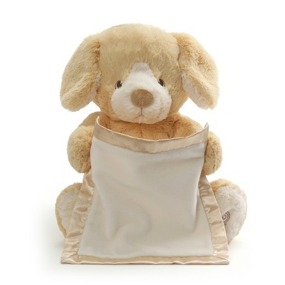GUND Peek-A-Boo Puppy - Tan