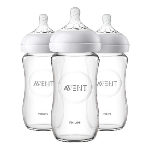 Philips Avent 3pk Natural Glass Baby Bottle 8oz - image 1 of 4