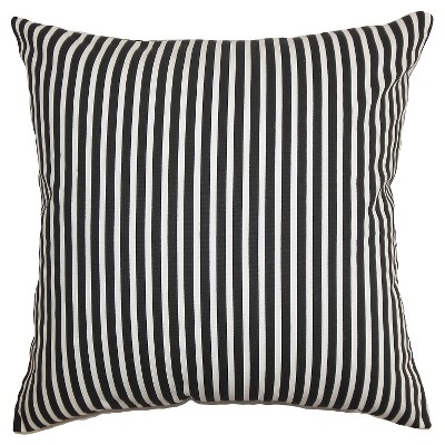 Ticking Stripe Throw Pillow Black (18 x18 )- The Pillow Collection