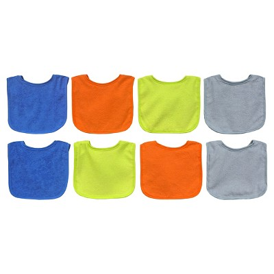 Neat Solutions Bright 8pk Boy Bib with Water Resistant Core