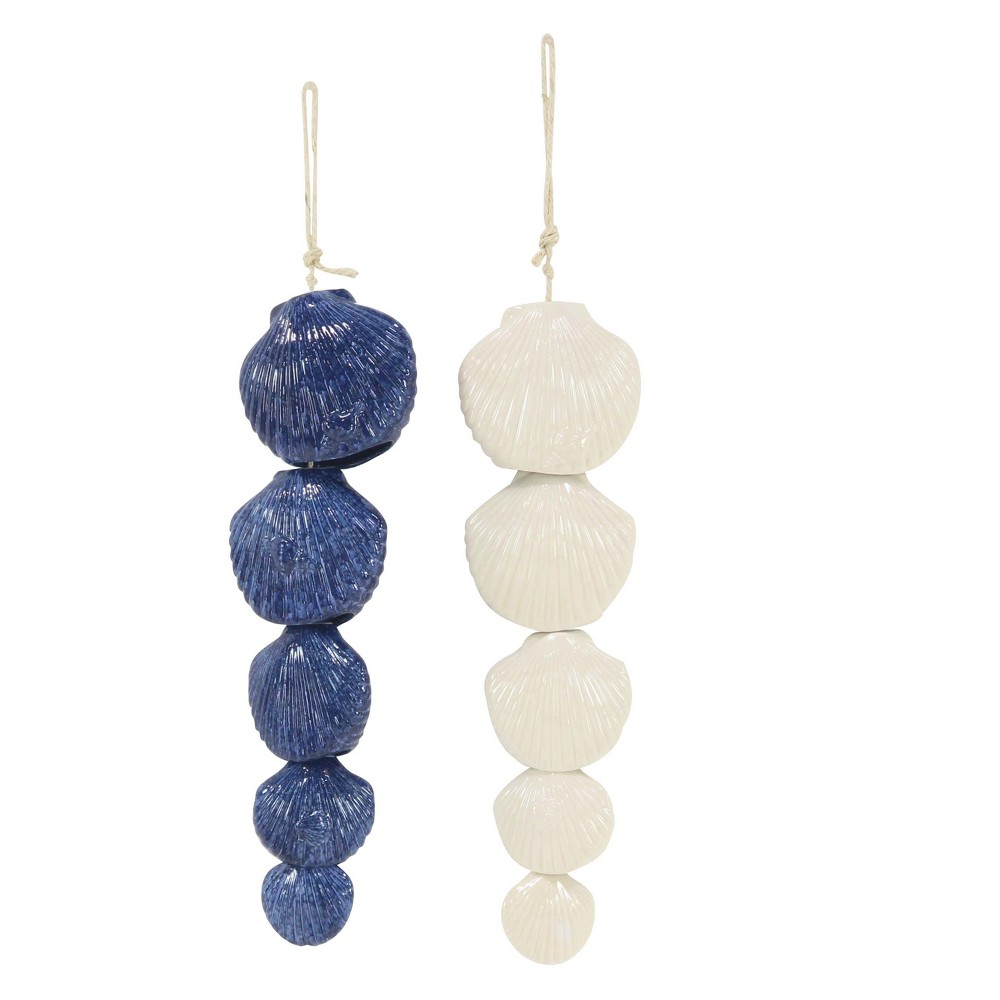 "Image of ""21""""H Ceramic Wind Chime - Brass - Olivia & May"""