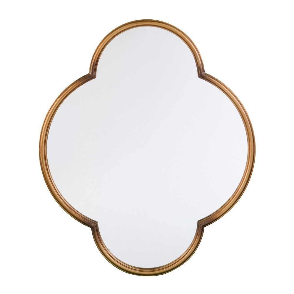 "Image of ""Holly & Martin 36""""x30"""" Willis Decorative Wall Mirror Gold"""
