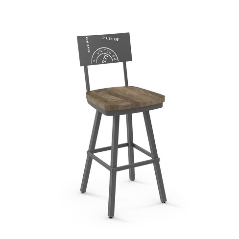 Amisco Jameson Counter Stool with Wood Seat - image 1 of 2