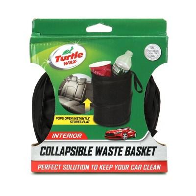 Turtle Wax Collapsible Waste Basket - Black