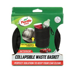 Turtle Wax Collapsible Waste Basket - Black