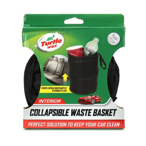 Turtle Wax Collapsible Waste Basket - Black - image 1 of 1