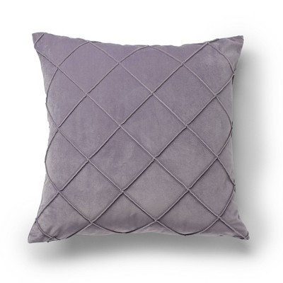 """20""""x20"""" Oversize Velvet Waffle Pleat Square Throw Pillow Gray - Sure Fit"""