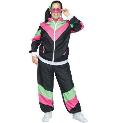 Fun World 80s Female Track Suit Plus Size Costume