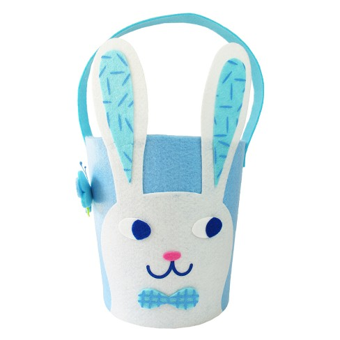 Easter Blue Felt Bunny Basket - Spritz™ - image 1 of 1