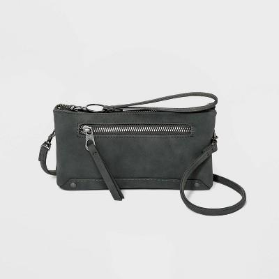 Zip Closure Crossbody Bag - Universal Thread™ Gunmetal