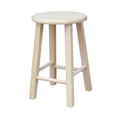 Round Top Barstool Unfinished - International Concepts