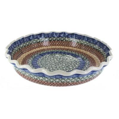 Blue Rose Polish Pottery Athena Pie Plate