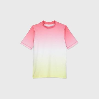Girls' Short Sleeve Ombre Rash Guard Swim Shirt - Cat & Jack™