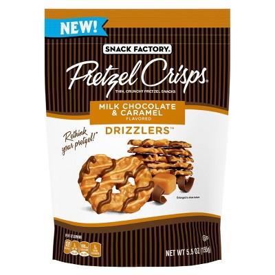 Snack Factory Milk Chocolate & Caramel Drizzlers Pretzel Crisps - 5.5oz