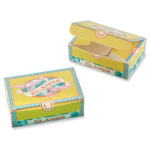 24ct Kate Aspen Cigar Box Inspired Favor Box - image 1 of 1