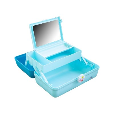 Caboodles On The Go Girl Makeup Bag - Turquoise over Sky Blue