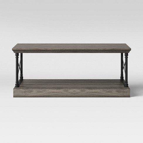 Conway Cast Iron Coffee Table Wood Threshold